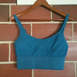 NWOT Cotton On Turquoise Bustier Crop Top